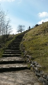 Looking Back Up The Stairs to Malham Cove