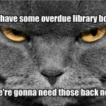 My library books are overdue!