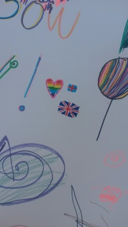 My little contribution to the Rainbow Wall