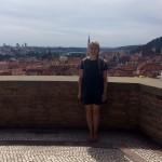The view of Prague city