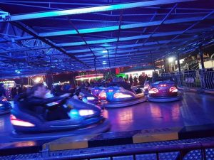 A photo of the dodgems