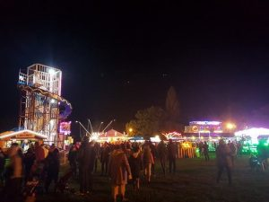 A photo of the funfair