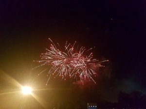 A picture of one of the fireworks.