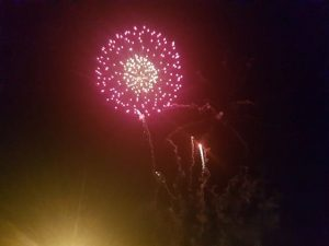 A photo of one of the fireworks