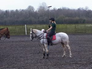 A photo of me playing polo!