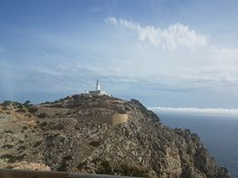 A photo of the lighthouse on the Formentor Peninsula