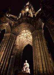 A photo of the Scott Monument.