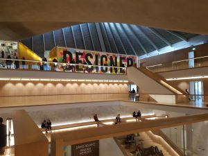 A picture of the inside of the design museum.