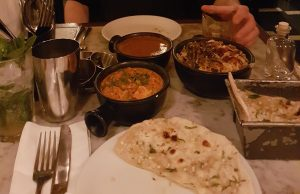 A photo of the food at Dishoom