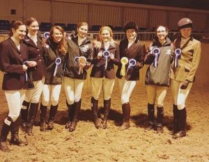 A photo of both of our teams at Equestrian varsity.
