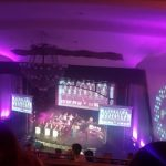 The stage at Sports Awards from the balcony.
