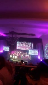 A photo of the stage at Sports Awards