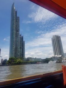 A photo of Bangkok from the river