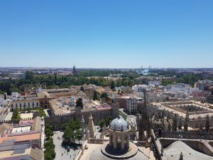 A photo of the view of Seville
