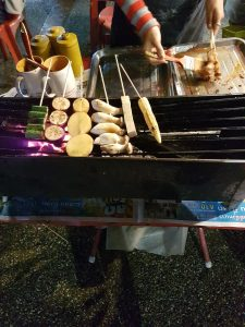 A photo of street food