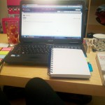 Hitting the books...and the laptop