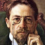 A painting of Chekhov (courtesy of Wikipedia!) looking very intellectual.
