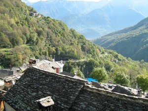 The view from a friend's balcony at Cresti, Montescheno