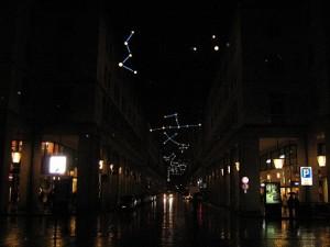The Christmas lights on Via Roma, Turin.