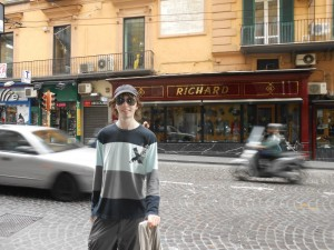 Me, in front of what I assume to be the only shop in Naples that shares my name.