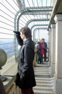 Myself at the top of the Mole Antonelliana, Turin.