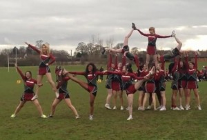 Cheering at a Longhorn game in our lovely new kit.