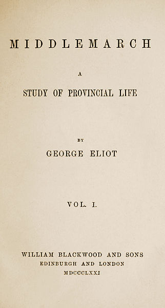 You're not making any friends with this title page, Mrs George Eliot.