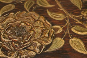 Detail on Grand Piano by Sir Edward Burne-Jones