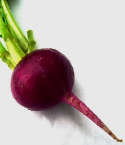 I flavour my purple prose with beetroot.