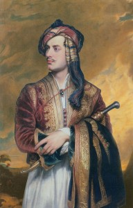 Lord Byron showing his penchant for having a fluid personality