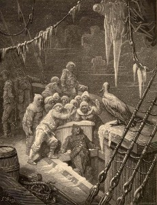 A scene from the Rime of the Ancient Mariner