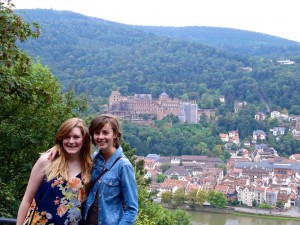 My housemate and I during our first days exploring Heidelberg