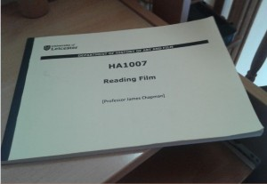Booklet for the module Reading film,containing the key readings for each week