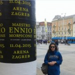 Me in Zagreb, the day after his concert