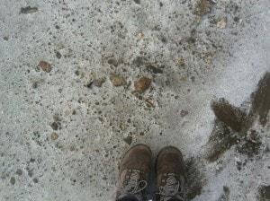 Salt on the ground