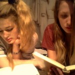 Reading with my housemate