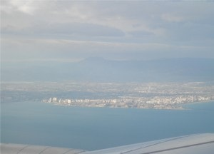 View of Alicante from the plane