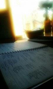 Hard at work revising