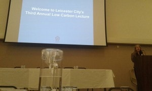 Front table at the Low Carbon Lecture