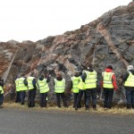 Sometimes, the rocks were a bit more complicated than simple layering. The hi-vis jackets helped us think