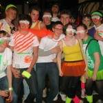 Socials in first year, all dressed up in rave outfits