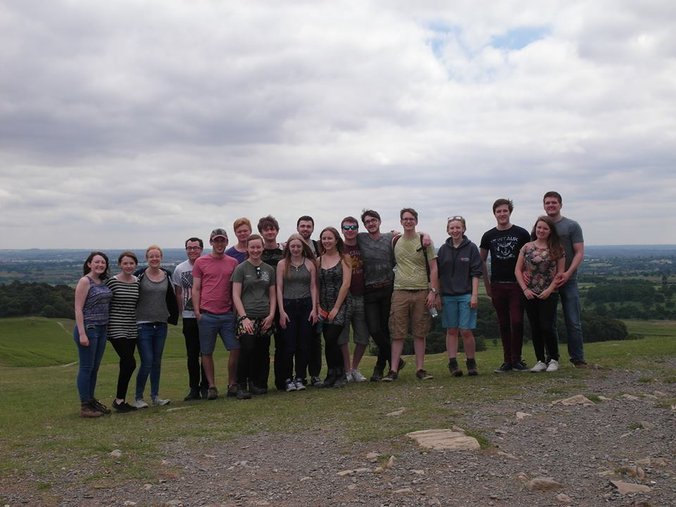 Me with a group of geologists enjoying Bradgate park