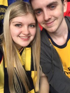 Cheeky pre-match selfie.