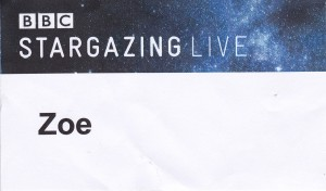 My BBC Stargazing Live Badge :D