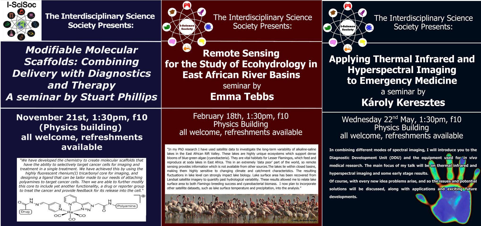Academic seminar posters