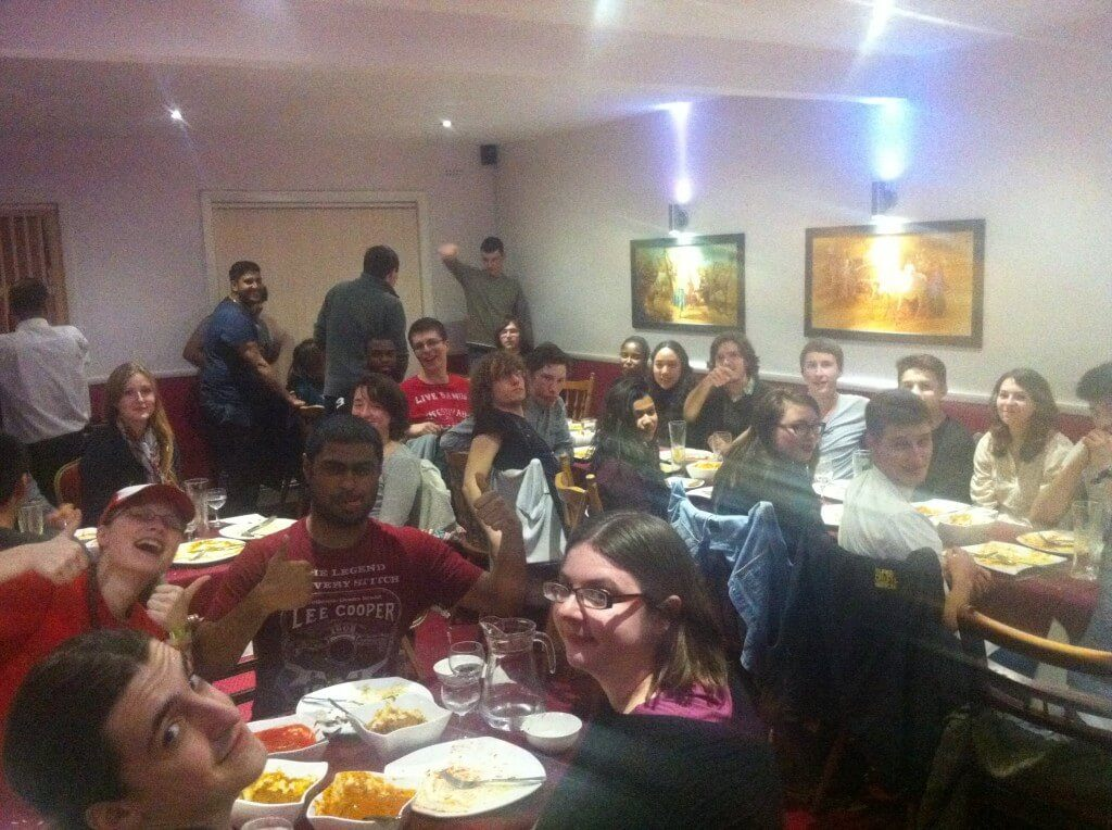 The I-science Society annual winter meal.