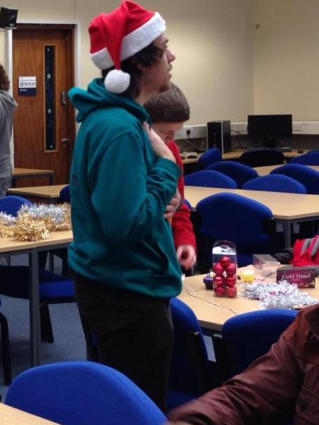 Deliverable week is made all the better with Santa hats and tinsel.