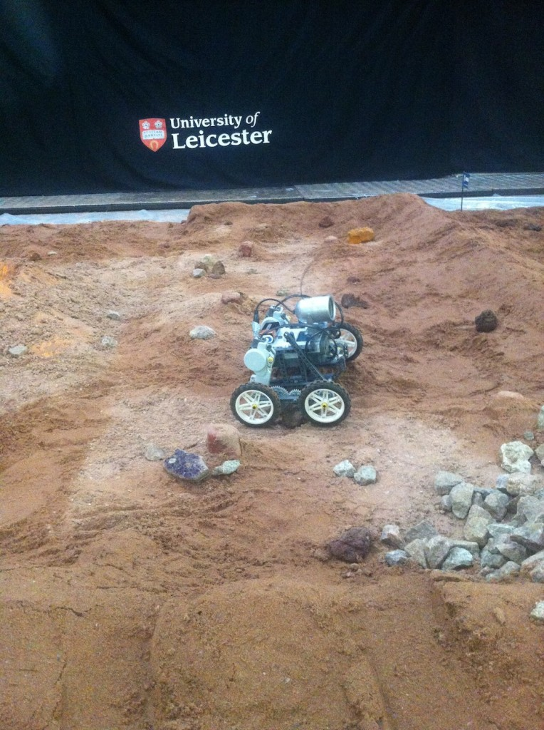Controlling a Mars rover was just one of the many stalls at the event.