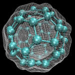 One big breakthrough in computational chemistry came in the development of Density Functional Theory, where it was shown that the kinetic energy, attractive and repulsive terms of a system could be formulated using the electron density alone. This gave rise to a powerful new way of modelling systems, in particular larger ones like the C60 molecule shown above, that would go on to win one of the founders, Walker Kohn, a nobel prize.