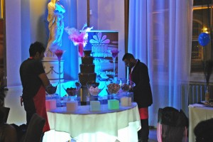 Whats a ball without a chocolate fountain?
